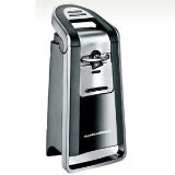Hamilton Beach 76607 Pop-Top Electric Can Opener, Black and Chrome