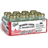 Jarden #62000 Ball 12PK Quart Mason Jar