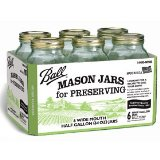 Ball #68100 6 Pack 1/2 Gallon Wide Mouth Jar