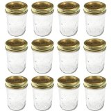 Kerr 0501 regular mason jar half pint, 8oz