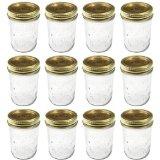 Kerr 0501 regular mason jar half pint, 8oz