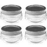 Ball 61162 half-pint wide mouth mason jars