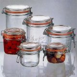 Le Parfait French Glass Canning Jar with Gasket and Lid