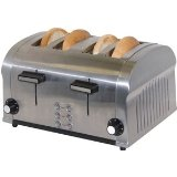 Haier FST1400DS 1400-Watt 4-Slice Die-Cast Stainless-Steel Toaster