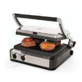 Wolfgang Puck WPCGL050 Tri-Grill Panini Maker with Storage Drawer
