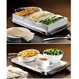 Nostalgia Electrics 3-Section Stainless Steel Buffet Food Server