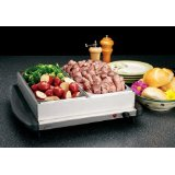 Deni Dual Buffet Server And Warming Tray With Plastic Lid