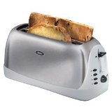 Oster 6330 Inspire Brushed Stainless and Gray Toaster 4-slice