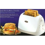 Oster Model 6339 White Metal 2 Slice Toaster