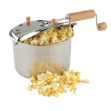 Back to Basics Stainless-Steel Stove-Top Popcorn Popper