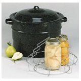 Columbian Home 0707-3 Granite Ware Covered Preserving Canner with Rack 21-1/2 Qt