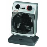 Optimus H-1380 Portable 3-Speed Oscillating Fan Heater with Thermostat
