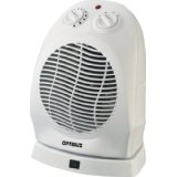 Optimus H-1382 Portable 2-Speed Oscillating Fan Heater with Thermostat