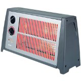 Optimus H-2222 Portable Fan Forced Radiant Heater with Thermostat
