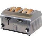 Haier FST1400DS 1400-Watt 4-Slice Die-Cast Stainless-Steel Toaster