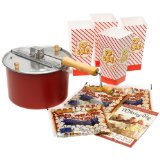 The Original whirley-pop Stovetop Popcorn Popper Theater Style Popcorn Set
