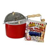 Red Whirley-Pop Stovetop Popcorn Popper