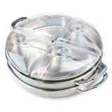 Nostalgia LSB-2850 Stainless-Steel Cordless Rotating Buffet Server and Warming Tray