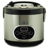 Aroma ARC-930SB Stainless-Steel 10-Cup Digital Rice Cooker and Food Steamer