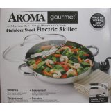 Aroma Stainless Steel Electric Skillet 1500 Watts