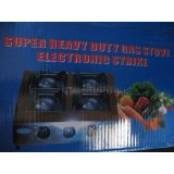 Hercules 4 Burner Super Heavy Duty Gas Stove Electronic Strike